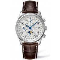 Longines - Master Full Calendar & Moon Phase 40 mm leather strap XL L26734785