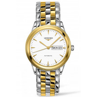 Longines Flagship White Steel & Gold PVD Day Date