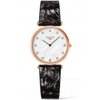 Longines - La Grande Classique 29mm MOP 12 diamanter Rosegold Leatherstrap
