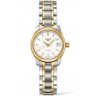 Longines Master 25.5 mm White Steel & Gold Lady's Watch