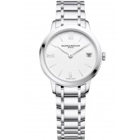 Baume & Mercier Classima Quartz Steel & White Woman's Watch