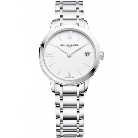 Baume & Mercier Classima Quartz Steel & White Woman's Watch