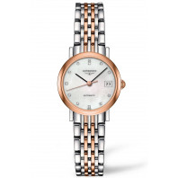 Longines -Elegant  MOP Rose gold 12 Diamonds Lady's Watch