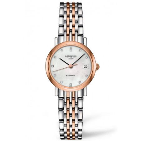 Longines -Elegant  MOP Rose gold 12 Diamonds Lady's Watch