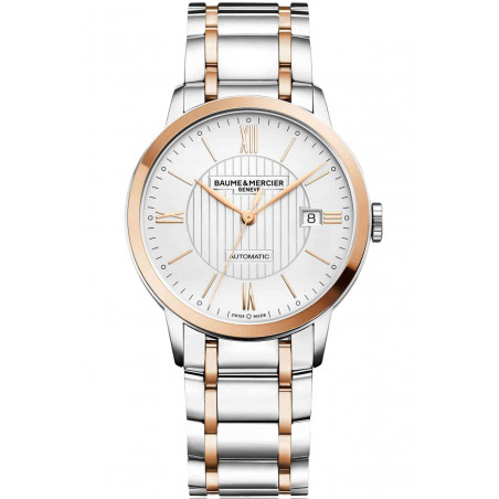 Baume & Mercier Classima Automatic Steel & Rose Gold Mens Watch