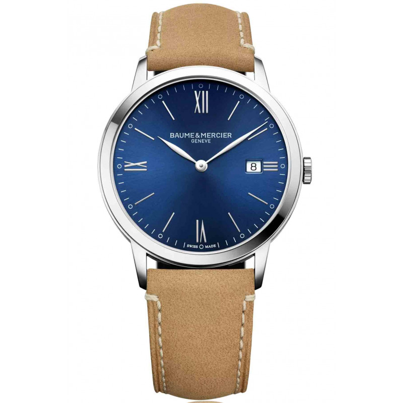 Baume & Mercier Classima Quartz Blue & Steel Mens Watch M0A10385