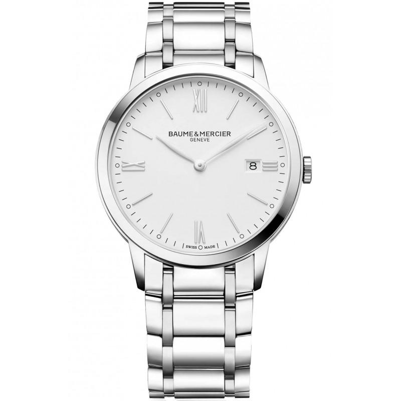 Baume & Mercier Classima Quartz White & Steel Mens Watch