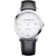 Baume & Mercier Classima Automatic White & Leather Mens Watch