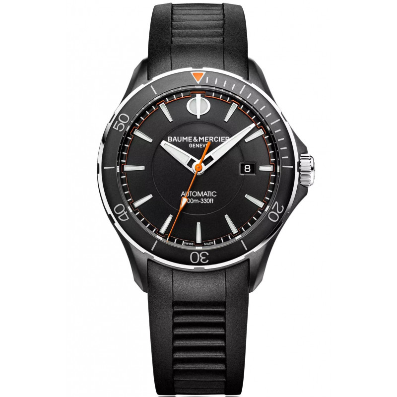 Baume & Mercier Clifton Club Automatic Black & Rubber strap Mens Watch
