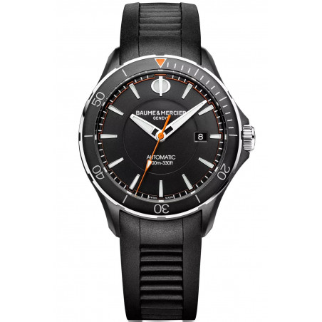 Baume & Mercier Clifton Club Automatic Black & Rubber strap Mens Watch