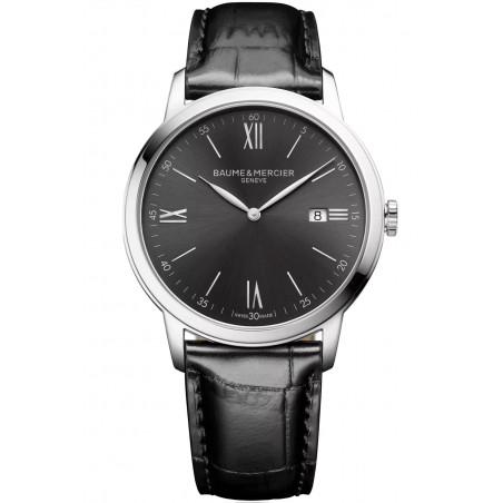 Baume & Mercier Classima Quartz Black & Leather Mens Watch M0A10416