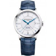 Baume & Mercier Classima Automatic GMT White & Blue Mens Watch
