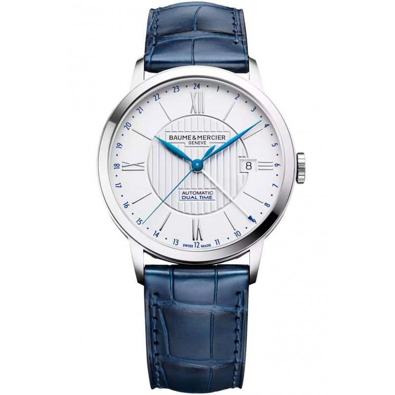 Baume & Mercier Classima Automatic White & Blue Mens Watch M0A10272