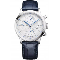 Baume & Mercier Classima Automatic Chronograph Mens Watch White & Leather