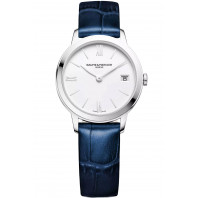 Baume & Mercier Classima Quartz Womens White & Leather