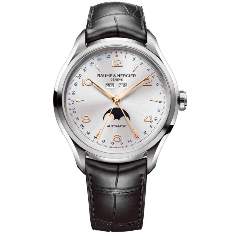 Baume & Mercier Classima Automatiskt Herrklocka Kronograf Vit & Läder