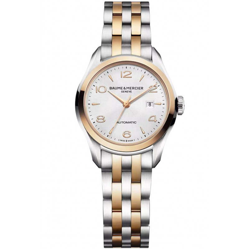 Baume & Mercier Clifton Automatic 18K Gold & Steel Womens Watch