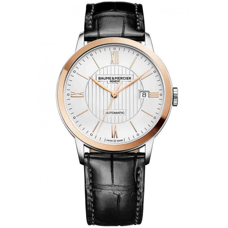 Baume & Mercier Classima Automatic Mens Watch Steel & Gold, Alligator