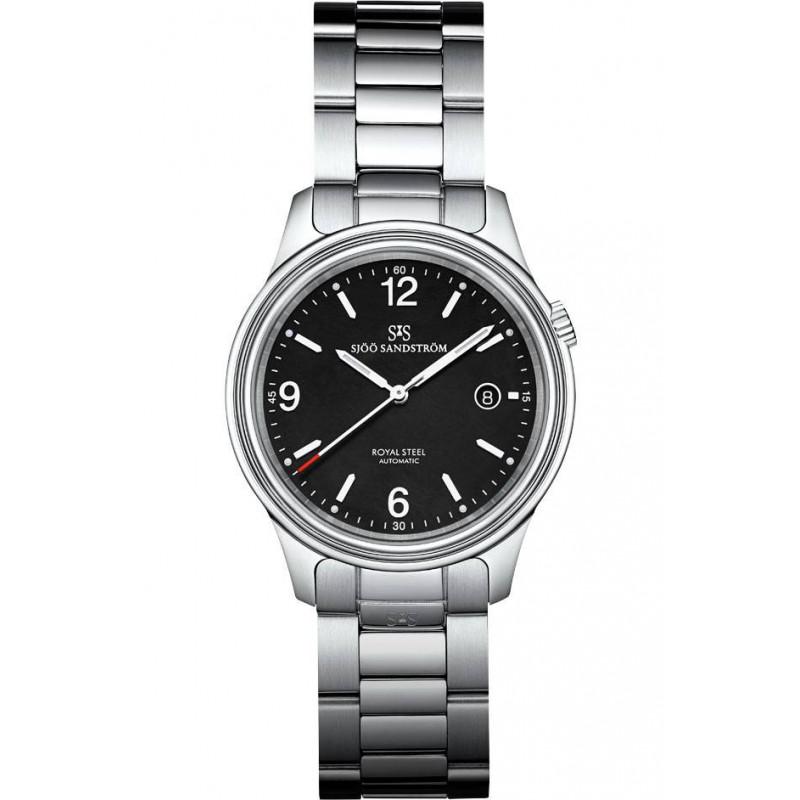 Sjöö Sandström Royal Steel Classic Men's Watch Black Steel 41mm 008713