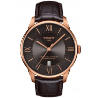 TISSOT - CHEMIN DES TOURELLES POWERMATIC 80 Gold & Leather Gent's