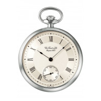 T-Pocket Le Pine Mechanical Pocket Watch, 925 silver case & chain