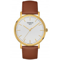 Tissot Everytime kvarts silver  & läderband T1094103603100