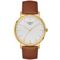 Tissot Everytime quartz, silver dial & leather strap T1094103603100