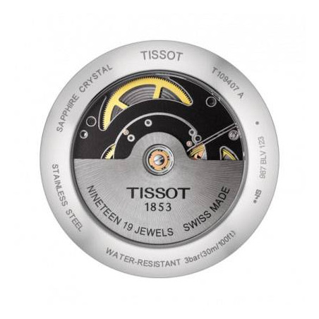 Tissot - Everytime Swissmatic Silver Steel Brown Leather strap Gent's Watch