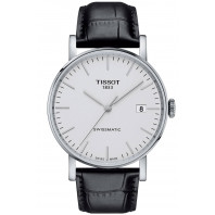 Tissot - Everytime Swissmatic Silver & Leather Strap Men's Watch