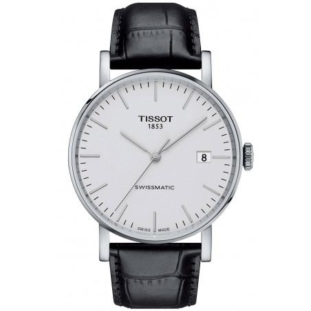 Tissot - Everytime Swissmatic Silver & Leather Strap Men's Watch