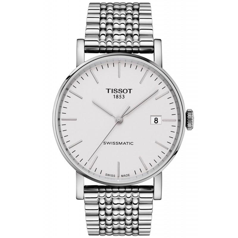 Tissot - Everytime Swissmatic Silver & Läderband Herrklocka