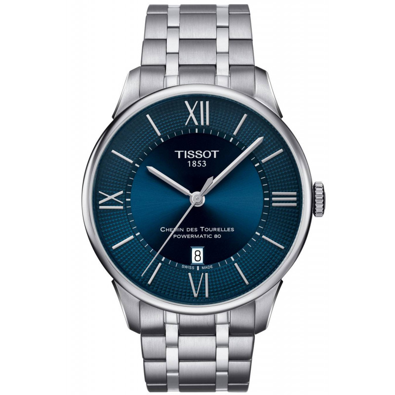 Tissot - Chemin des Tourelles Men's Watch with silver dial and steel bracelet T0994071103800