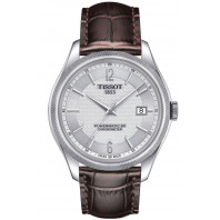 Tissot Ballade Powermatic 80 COSC Men´s watch Silver Leatherstrap