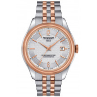 Tissot Ballade Powermatic 80 COSC Men's Watch Silver & Rose Gold PVD