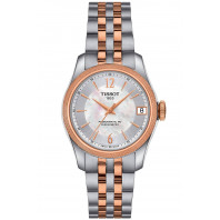 Tissot Ballade Powermatic 80 COSC Lady's Watch White Mother-Of-Pearl & Rose Gold PVD
