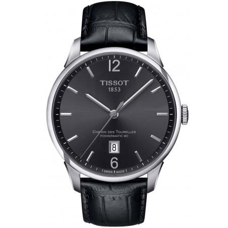 TISSOT - CHEMIN DES TOURELLES POWERMATIC 80 Black Leatherstrap Gent's Watch