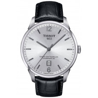 TISSOT - CHEMIN DES TOURELLES POWERMATIC 80 Silver & Läderband Herrklocka