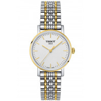 Tissot - Everytime Silver & Yellow gold PVD Lady's Watch