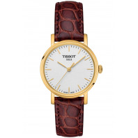 Tissot - Everytime Small Silver Gold PVD Leatherstrap Lady's Watch