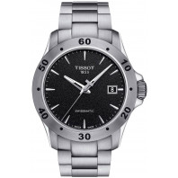 Tissot - V8 Swissmatic Automatic Men's Watch Black Steel Braclet