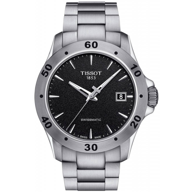 4b657b87a38 Tissot -V8 Swissmatic, automatic, men's Watch, black dial, steel
