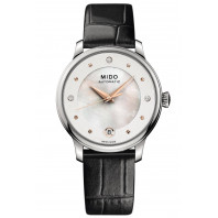 MIDO Baroncelli II - Automatisk Pärlemor Stål Läderband Damklocka