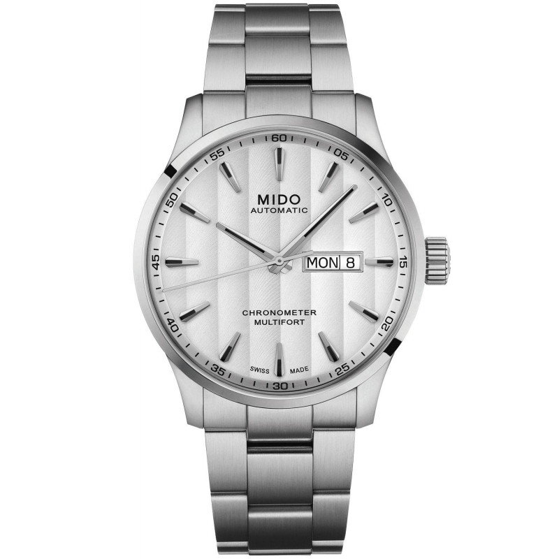 MIDO Multifort - Automatic Silver DayDate Steel Gent's
