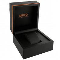 MIDO Multifort -Vit Rose Guld PVD Läderband Herr