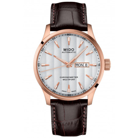 MIDO Multifort -  White Rose Gold PVD Leatherstrap Gent's