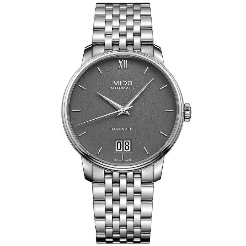 MIDO Baroncelli III- Automatic Grey Steel Gent's Watch