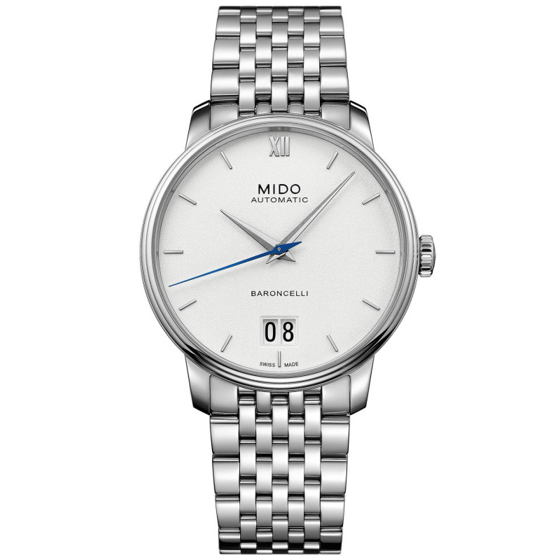 MIDO Baroncelli III- Automatic White Steel Gent's Watch