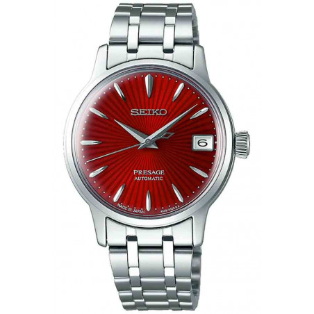 Seiko - Presage Cocktail Automatic Date Red & Steel 34mm