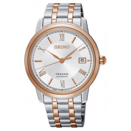 Seiko - Presage Automatic Silver Steel & Rose Gold PVD 39 mm