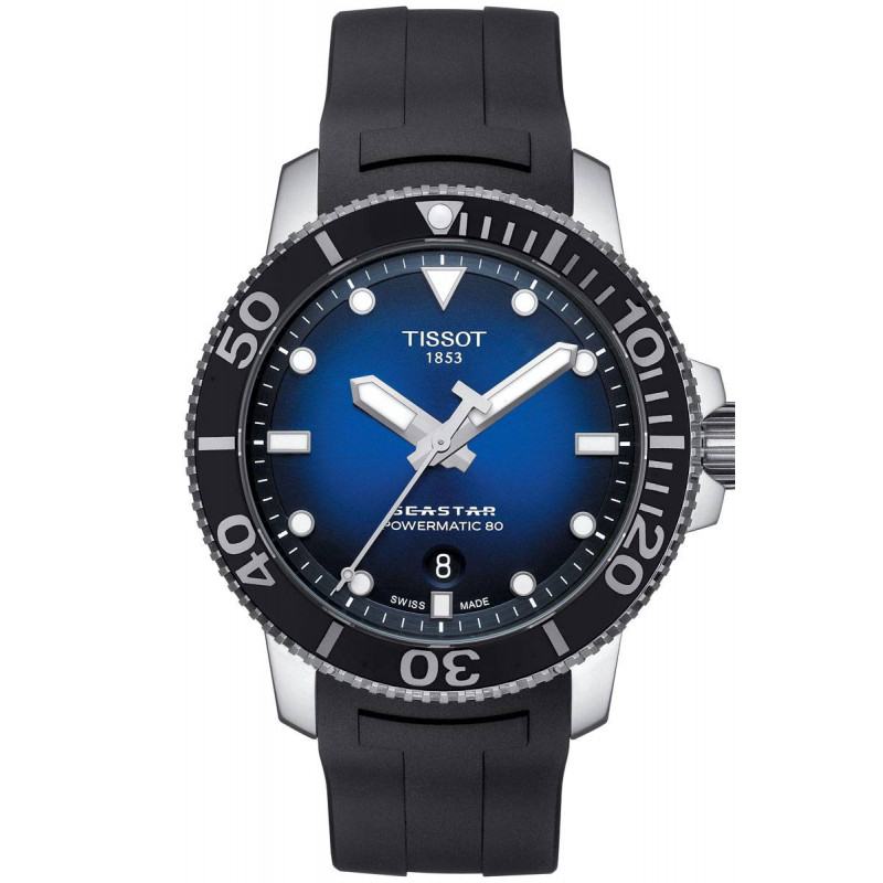 Tissot Seastar 1000 Powermatic 80 Blue Rubber Strap Gent's Watch